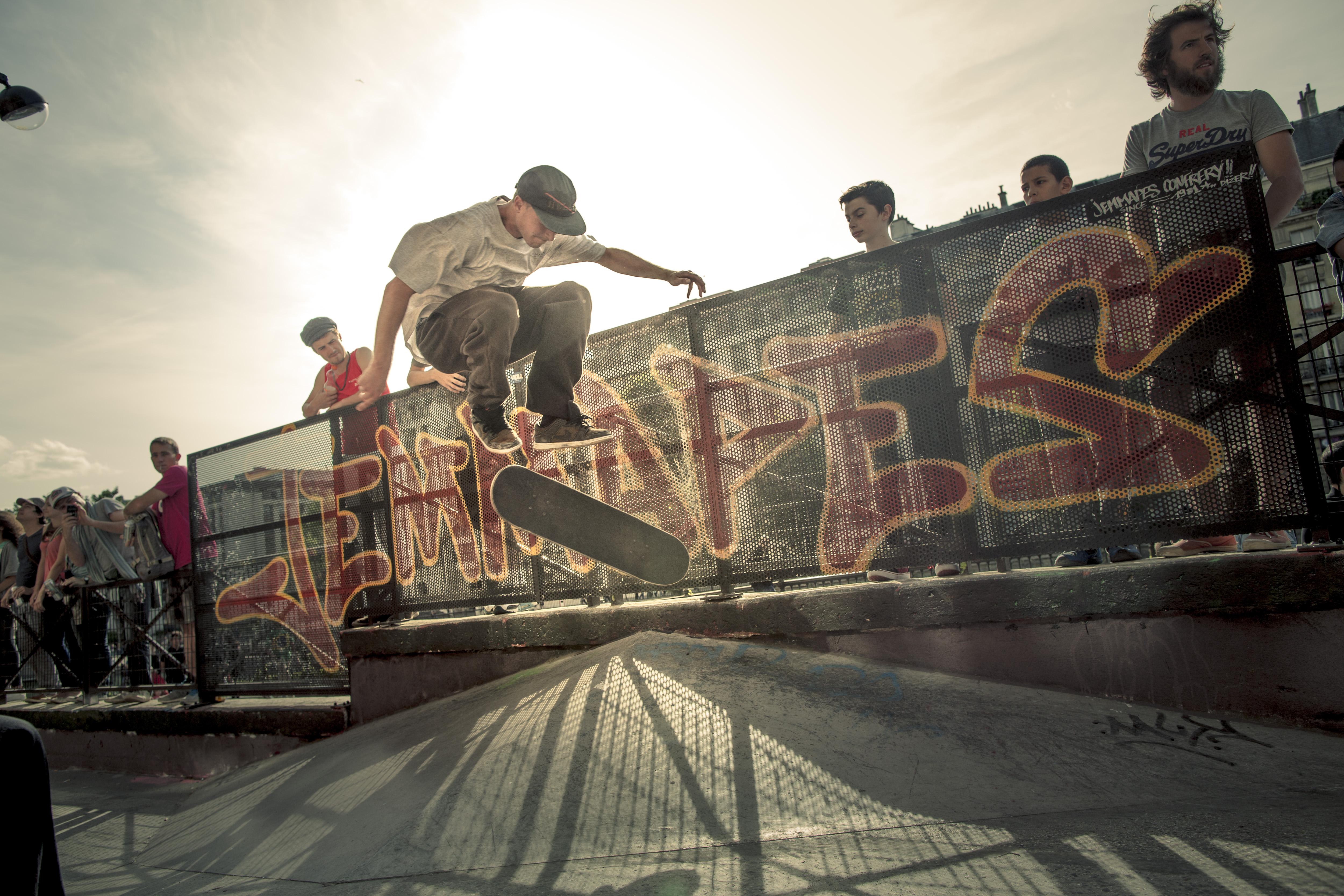 ©Xavier de Torres. 2015/06/21. SkatePark quai de Jemmapes a Paris.